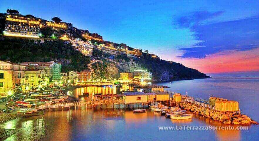 Marina Grande by night, Sorrento