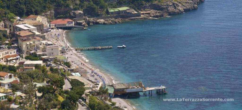 La Marinella beach, in Sant\'Agnello - La Terrazza Sorrento