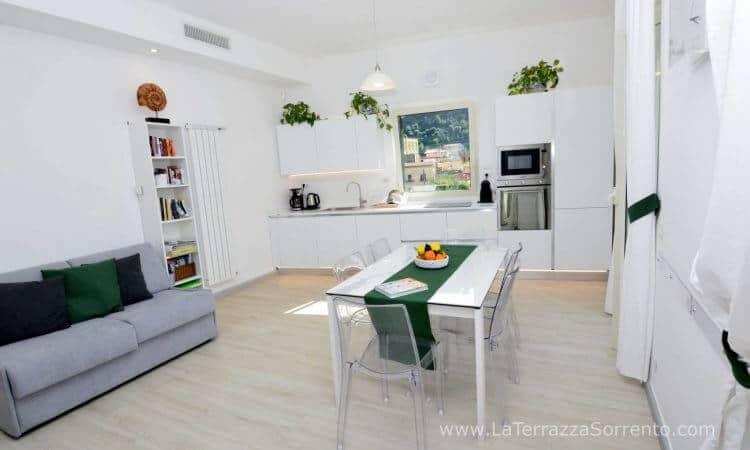 Cucina Living di La Terrazza Family Holidays, Sorrento