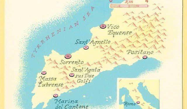 mappa della penisola sorrentina