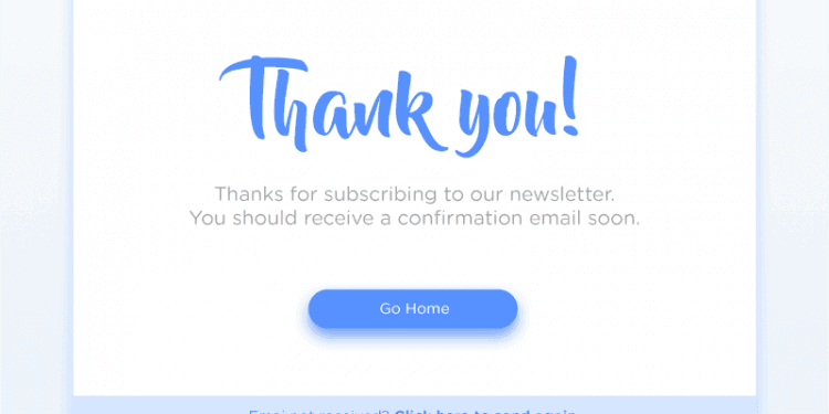 thank you newsletter