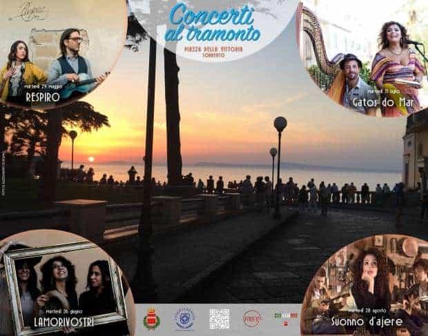 Sorrento tornano i concerti al tramonto a piazza della for Terrazza vittoria sorrento