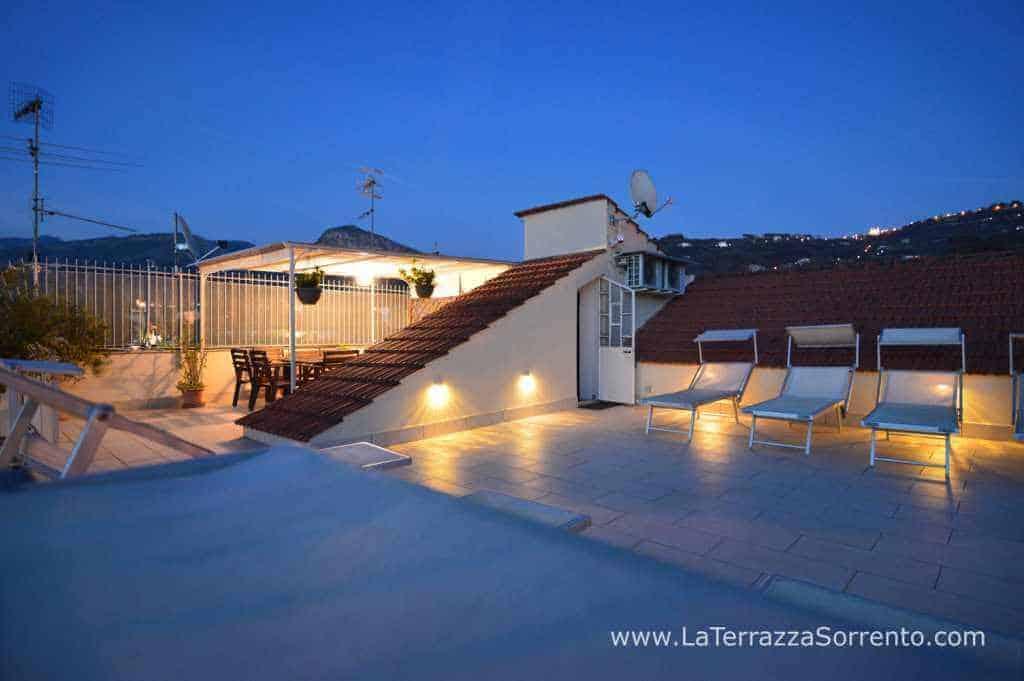 Sunset in terrace, at La Terrazza Vacation Rental, Sorrento, Italy ...